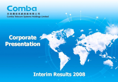 2008 Interim Results Presentation