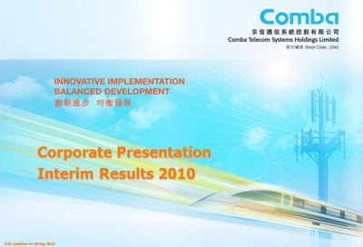 2010 Interim Results Presentation