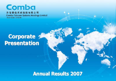 2007 Annual Results Presentation
