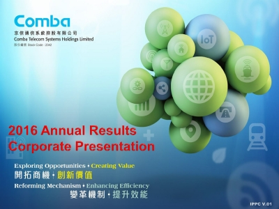 2016 Annual Results Corporate  Presentation