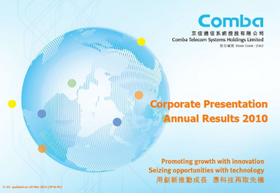 2010 Annual Results Presentation