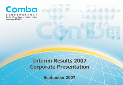 2007 Interim Results Presentation